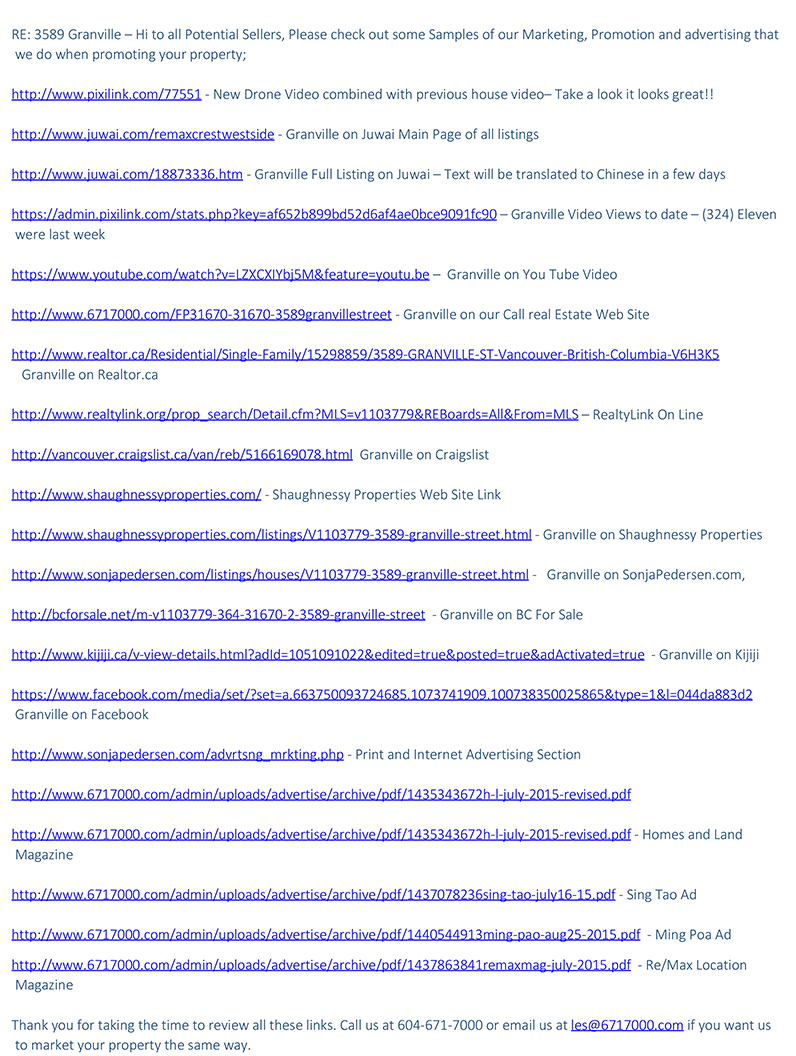 Internet marketing samples for Sellers