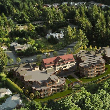 Qualicum College Heights - Close-up Aerial!