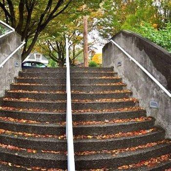 Outdoor Staircase to Main Entrance !