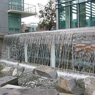 Waterfall In Water Feature!