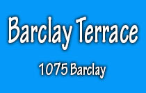 Barclay Terrace 1075 BARCLAY V6E 1G5