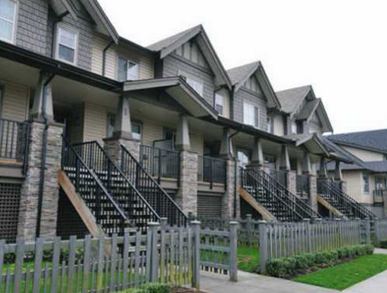 Typical townhouse exterior!