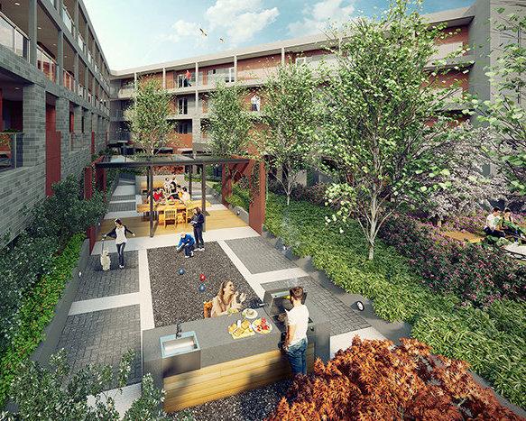 Rendering - Courtyard!