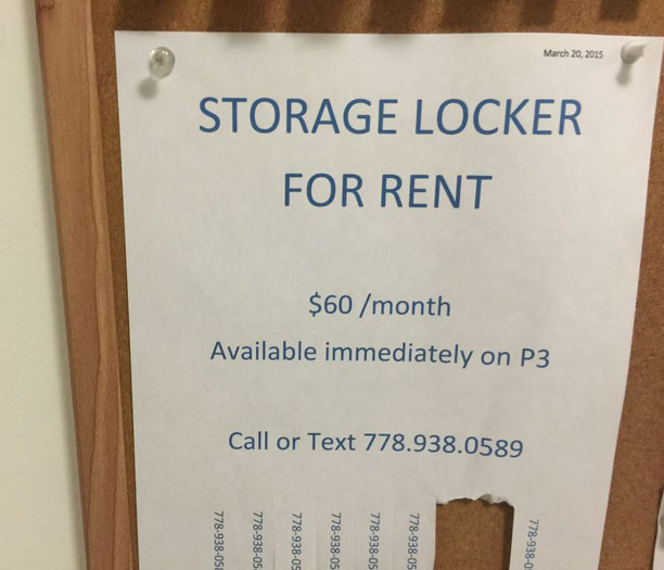 Storage Locker Rentals!