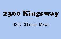 2300 Kingsway 4815 ELDORADO V5R 0B2