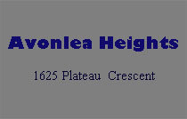 Avonlea Heights 1625 Plateau V3E 3B3