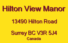 Hilton View Manor 13490 HILTON V3R 5J4
