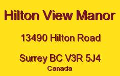 Hilton View Manor 13490 HILTON V3R 5J4