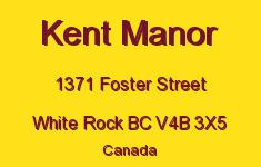 Kent Manor 1371 FOSTER V4B 3X5