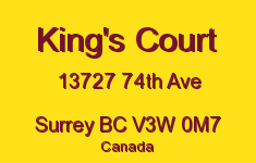 King's Court 13727 74TH V3W 0M7