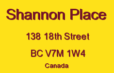 Shannon Place 138 18TH V7M 1W4