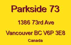 Parkside 73 1386 73RD V6P 3E8