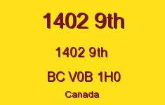 1402 9th 1402 9TH V0B 1H0