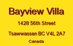 Bayview Villa 1428 56TH V4L 2A7