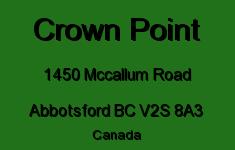 Crown Point 1450 MCCALLUM V2S 8A3