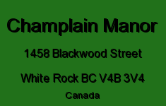 Champlain Manor 1458 BLACKWOOD V4B 3V4