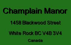 Champlain Manor 1458 BLACKWOOD V4B 3V4