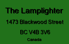 The Lamplighter 1473 BLACKWOOD V4B 3V6