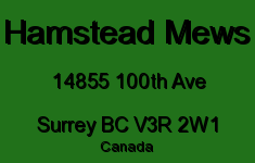 Hamstead Mews 14855 100TH V3R 2W1