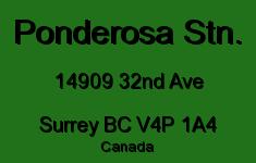 Ponderosa Stn. 14909 32ND V4P 1A4