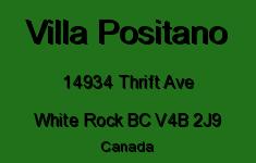Villa Positano 14934 THRIFT V4B 2J9