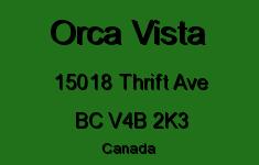 Orca Vista 15018 THRIFT V4B 2K3