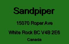 Sandpiper 15070 ROPER V4B 2E6