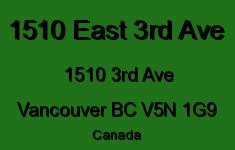1510 East 3rd Ave 1510 3RD V5N 1G9