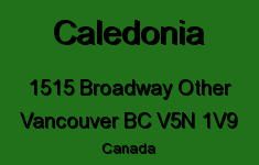 Caledonia 1515 BROADWAY V5N 1V9