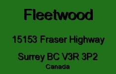Fleetwood 15153 FRASER V3R 3P2
