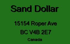 Sand Dollar 15154 ROPER V4B 2E7