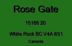 Rose Gate 15166 20 V4A 8S1
