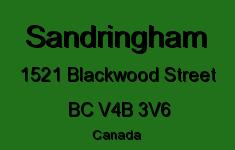 Sandringham 1521 BLACKWOOD V4B 3V6