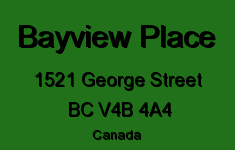 Bayview Place 1521 GEORGE V4B 4A4