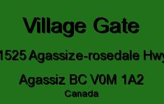 Village Gate 1525 Agassize-Rosedale V0M 1A2