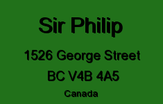 Sir Philip 1526 GEORGE V4B 4A5