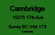 Cambridge 15270 17TH V4A 1T9