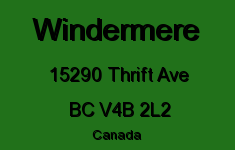 Windermere 15290 THRIFT V4B 2L2