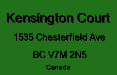Kensington Court 1535 CHESTERFIELD V7M 2N5