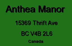 Anthea Manor 15369 THRIFT V4B 2L6