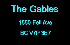 The Gables 1550 FELL V7P 3E7