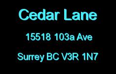 Cedar Lane 15518 103A V3R 1N7