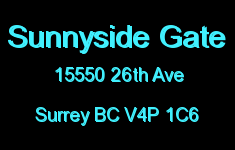 Sunnyside Gate 15550 26TH V4P 1C6