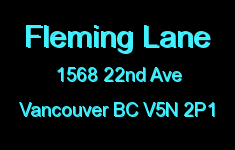 Fleming Lane 1568 22ND V5N 2P1
