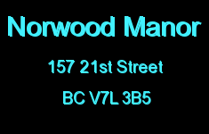 Norwood Manor 157 21ST V7L 3B5
