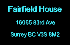 Fairfield House 16065 83RD V3S 8M2