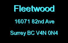 Fleetwood 16071 82ND V4N 0N4