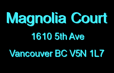 Magnolia Court 1610 5TH V5N 1L7