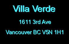Villa Verde 1611 3RD V5N 1H1