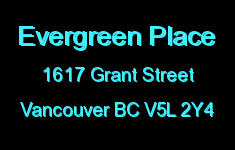 Evergreen Place 1617 GRANT V5L 2Y4